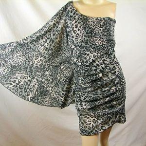 Leopard Print Flare sleeve dress